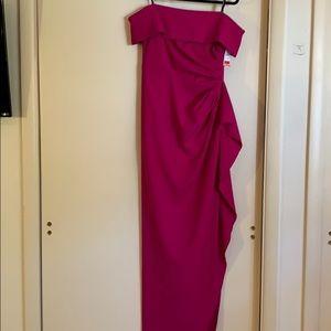 Drop shoulder gown